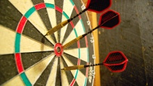 50% off 1-Hour of Pool or Darts with Pizza and Drinks for Two at Quadrangle (starting from $8 instead of $16)