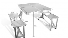 50% off Aluminium Picnic Table ($105 instead of $210)