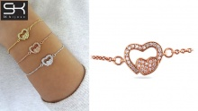 67% off Heart Bracelets from SK Bijoux ($8.66 instead of $26)