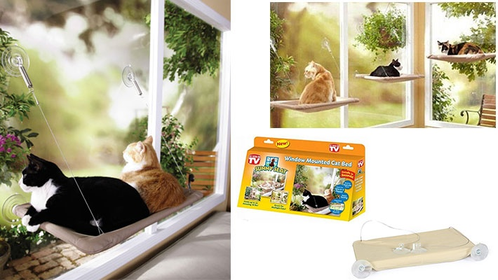 Marvelous Sunny Seat Window Mounted Cat Bed Gosawa Beirut Deal Andrewgaddart Wooden Chair Designs For Living Room Andrewgaddartcom
