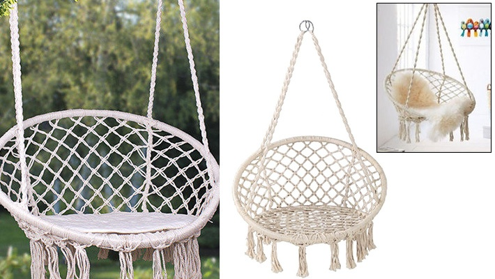 Exceptional 51% Off Hanging Round Chair Hammock ($49.33 Instead Of $100)