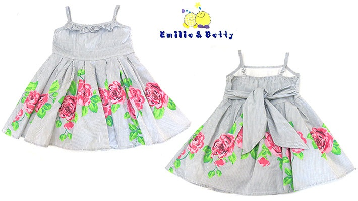1d4a1e559 Emilie   Betty Floral Striped Girl s Dress
