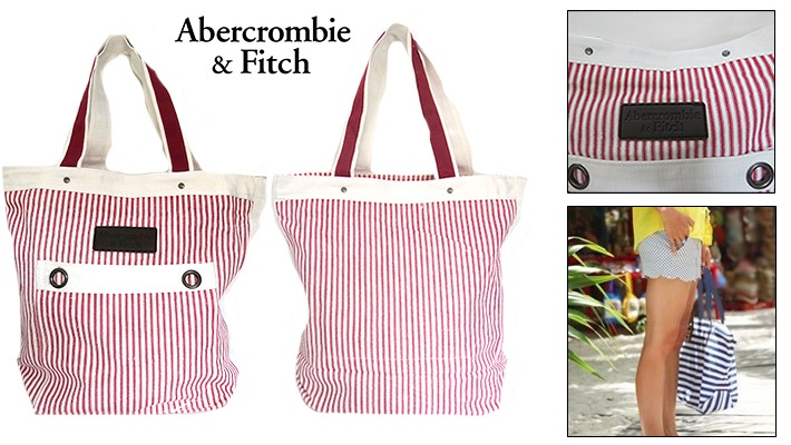 020d0aab919d 53% off Abercrombie   Fitch Striped Handbag ( 14 instead of  30)