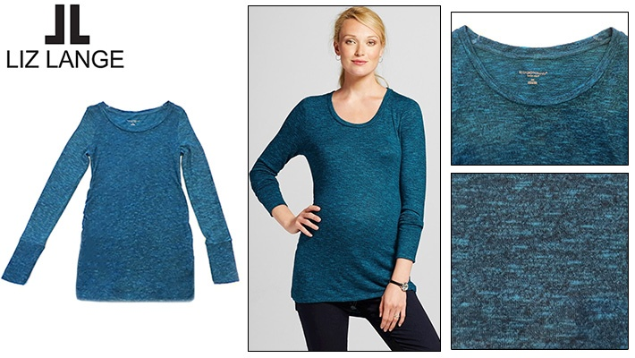 632ec12a9f339 60% off Liz Lange Maternity Long Sleeve Top ($9.99 instead of $25)