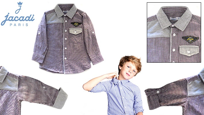 7f8621bff Jacadi Boy s Plaid Shirt