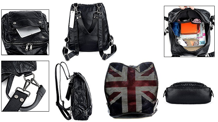 bf219119accc 50% off England Flag High Quality Leather Net Backpack ( 29.99 instead of   60)