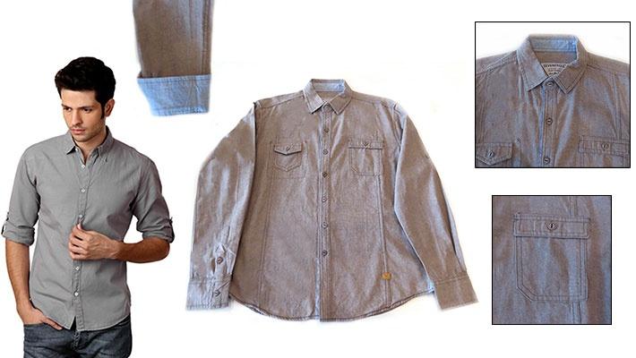 d861c4aaad5f0d 60% off Elegant Seveneagle Grey Men s Shirt ( 11.99 instead of  30)