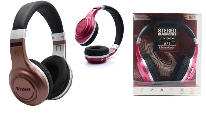 6e29107fb65 Wireless B61 Stereo Bluetooth Headphone ($16.66 instead of $23.66)