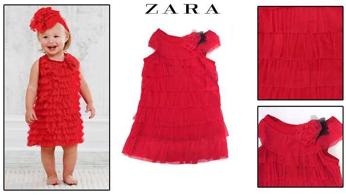 9f6f6152f325 67% off Zara Red Ruffled Girl s Dress ( 9.99 instead of  30)