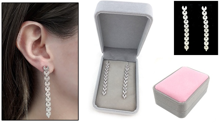 22f427b1053f 50% off Dangling Swarovski Earrings ( 26.66 instead of  53.33)