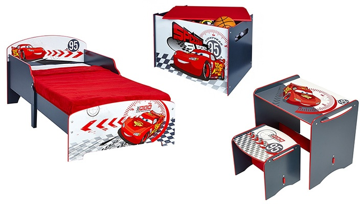 4-Piece Disney Cars Toddlers / Boys Bedroom | Gosawa Beirut Deal