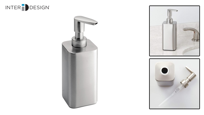 Interdesign Brushed Stainless Steel Gia Soap Pump Gosawa Beirut Deal