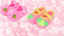50% off Colourful Crochet Baby Shoes ($12 instead of $24)