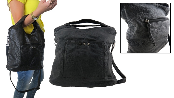 d817318ba1 67% off Black Leather Cross Bag ( 9.99 instead of  30)