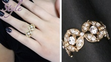 60% off Classy Gold Plated Flower Ring from Style ($12 instead of $30)