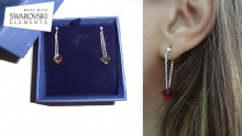 62% off 925 Silver Earrings with Colourful Swarovski Stones ($17 instead of $45)