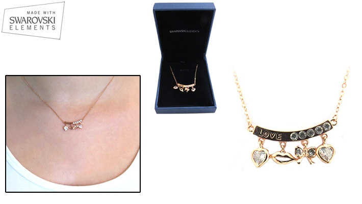 4c1837ee7 50% off Dangling Kiss Swarovski Elements Necklace ( 11.99 instead of  24)