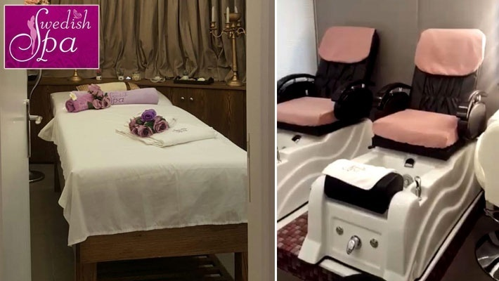 Couple's Full Body Massage with Romantic Decorations ...
