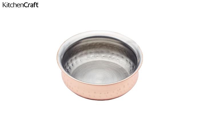 Kitchencraft Artesa Copper Finish Mini Serving Pot