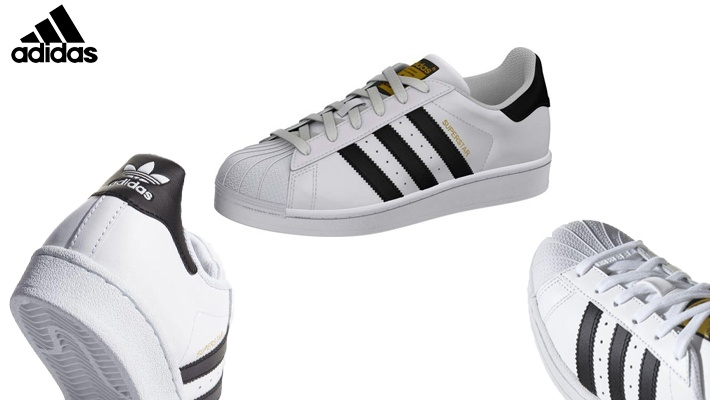 brand new 51409 b0971 White Adidas Kids  Superstar Shoes (only  90)