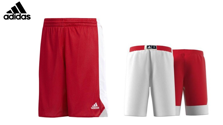 new concept 44250 dc6c3 Adidas Boys  Red Basketball Reversible Shorts Power (only  36)