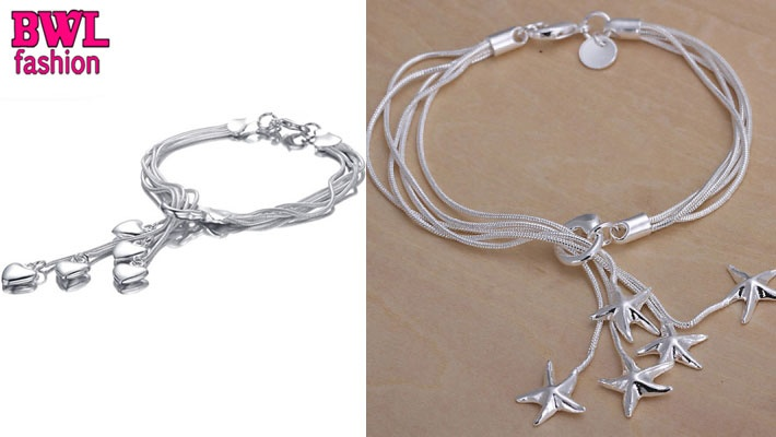 Anklets Flight Tracker Sterling Silver Anklet With Silver Star Dangles Good Heat Preservation