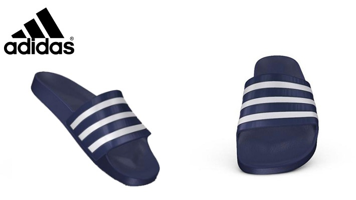 5f617de0852 Adidas Unisex Dark Blue Swim Adilette Aqua Slides Sandals / Slippers (only  $32)