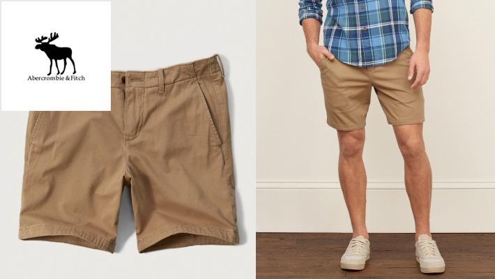 94bcbf8772b2f 63% off Abercrombie & Fitch Men's Khaki Shorts ($14.66 instead of $40)
