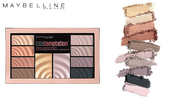 c9f1ef2404e Maybelline 001 Total Temptation Eyeshadow Palette and Highlighter (only  $18.66)