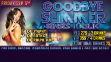Regular or VIP Entrance to the Goodbye Summer Party at Senses-Kaslik (starting from $19.99 instead of $27)