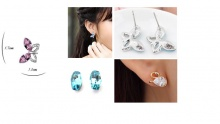 50% off Swarovski Elements Earrings (starting from $16 instead of $32)